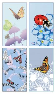 NCF14-16 'FLYING INSECTS' Notecards 8 pack