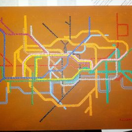 London tube map - Australian dot painting