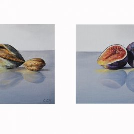 Figs and Almonds still life paintings