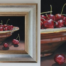Cherries still life painting