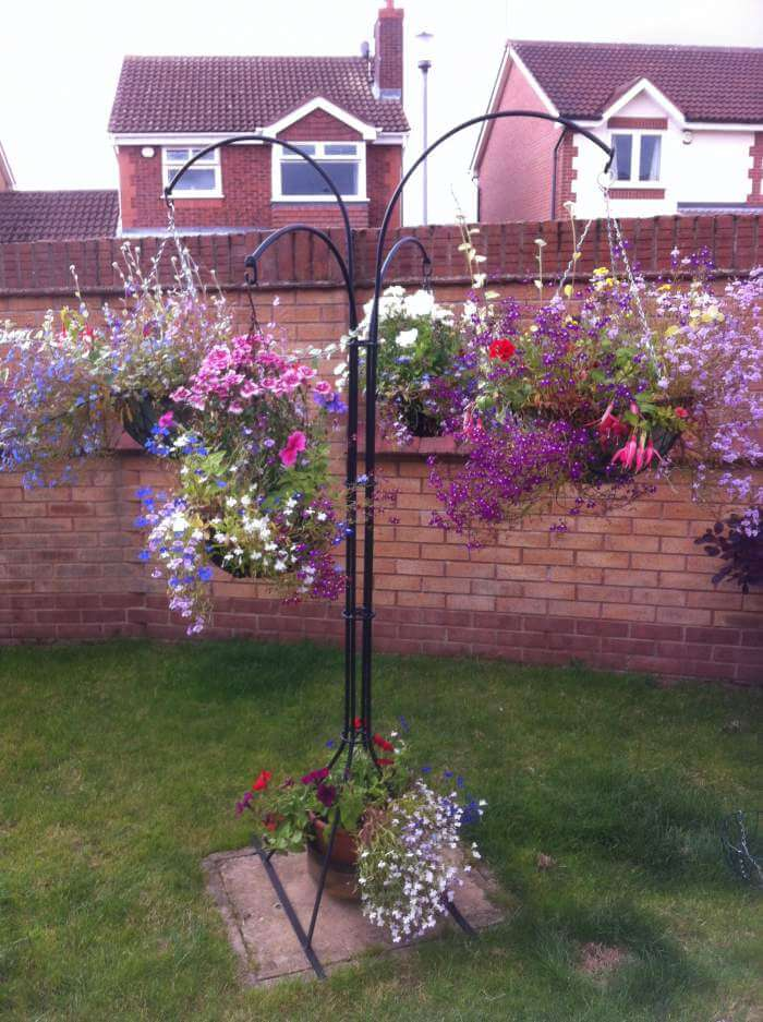 Hanging basket plant stand - bespoke folk on Hanging Plant Stand  id=97396