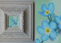 Field forget-me-not painting