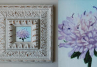 Field scabious painting