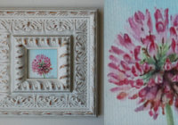 Red clover painting