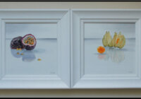 Passionfruit and Cape Gooseberries paintings