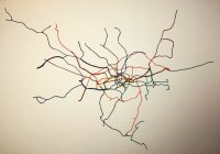 London Geographical Tube Map
