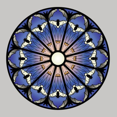 SB00-17 STAINED GLASS BATS