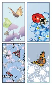 'FLYING-INSECTS' Notecard 8-pack