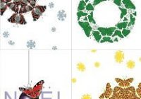Christmas Butterfly Foil 4-pack
